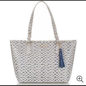 Brahmin Creme Vreeland medium Asher tote FREE SHIP